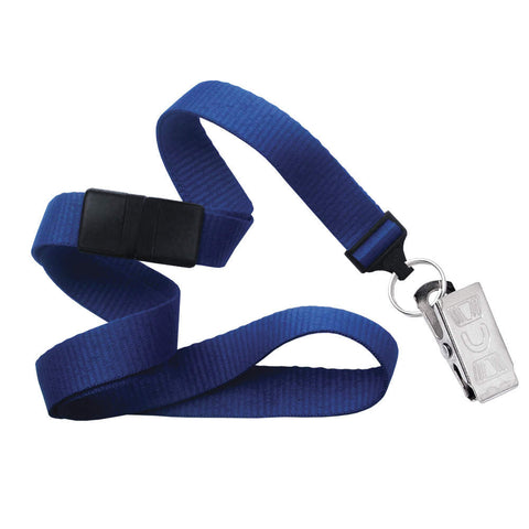 "Breakaway MicroWeave Ribbed 5/8"" Lanyard 2138 - NPS Bull-Dog Clip - 100/Pack - Wristbands.com, The No.1 Wristband Store in the World"