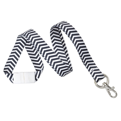 "ZigZag Pattern Fashion Lanyard 5/8"" (10/Pack) - Wristbands.com"