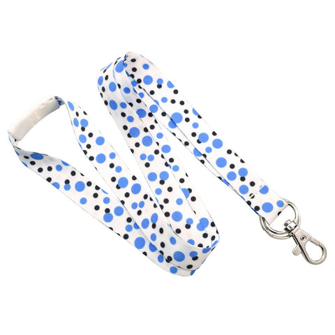 "Polka Dot Lanyard with Trigger Hook and Split Ring 5/8"" (10/Pack) - Wristbands.com"