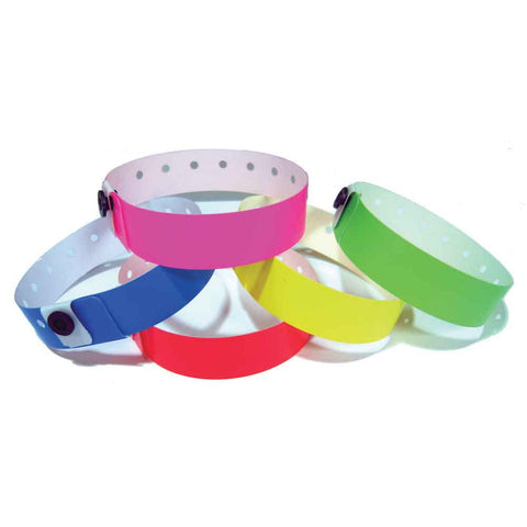 "SuperBand® Medium Plastic Wristbands 3/4"" 400P Snap Closure (500/Box) - Wristbands.com"