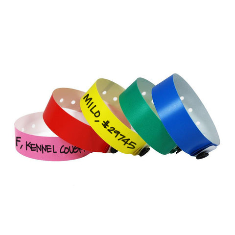 "SuperBand® Animal ID Plastic Bands 3/4"" Permanent Snap Closure 400PA (500/Box) - Wristbands.com"