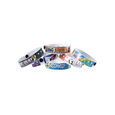 "SureImage® Full-Color Medium 3/4"" Custom Plastic Wristbands 400S - Wristbands.com"