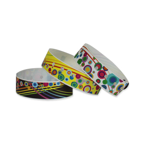 "Superband® Expressions Plastic Wristbands 3/4"" Colorburst Design 4025 (500/Box) - Wristbands.com"
