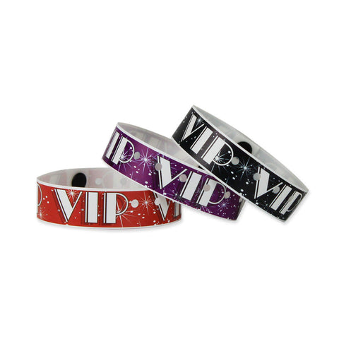 "Superband® Expressions Plastic Wristbands 3/4"" VIP Design 4030 (500/Box) - Wristbands.com"