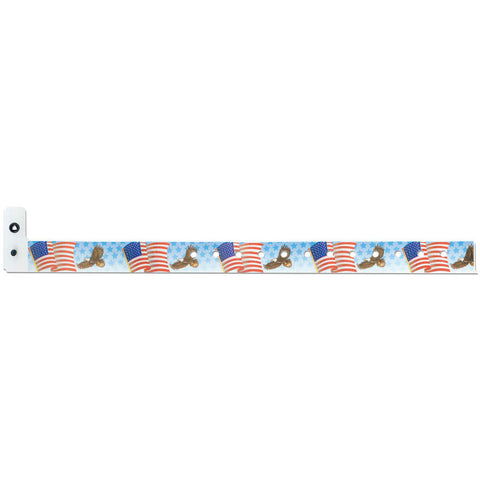 "Superband® Expressions Plastic Wristbands 3/4"" American Eagle Design 4033 (500/Box) - Wristbands.com"