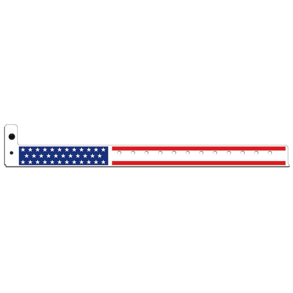 "Superband® Expressions Plastic Wristbands 3/4"" Stars & Stripes Design 4034 (500/Box) - Wristbands.com"
