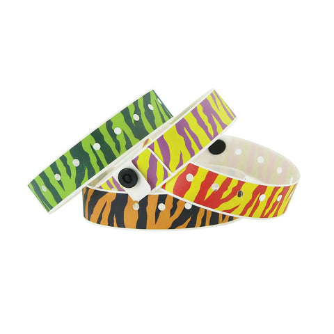 "Superband® Expressions Plastic Wristbands 3/4"" Tiger Design 4044 (500/Box) - Wristbands.com"