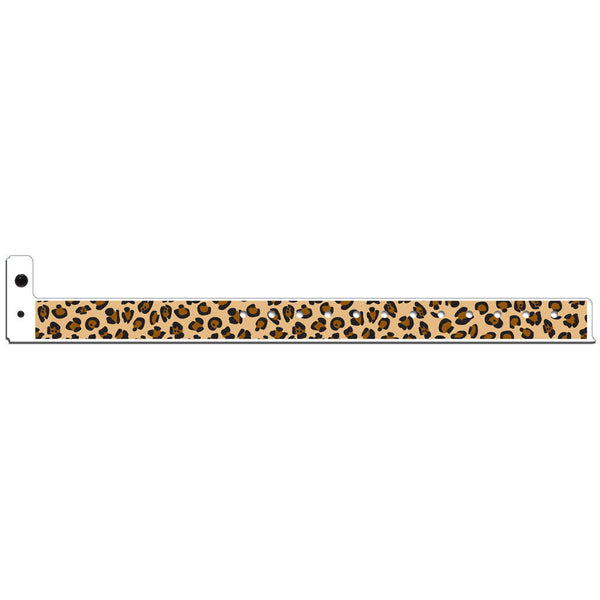 "Superband® Expressions Plastic Wristbands 3/4"" Leopard Design 4046 (500/Box) - Wristbands.com"