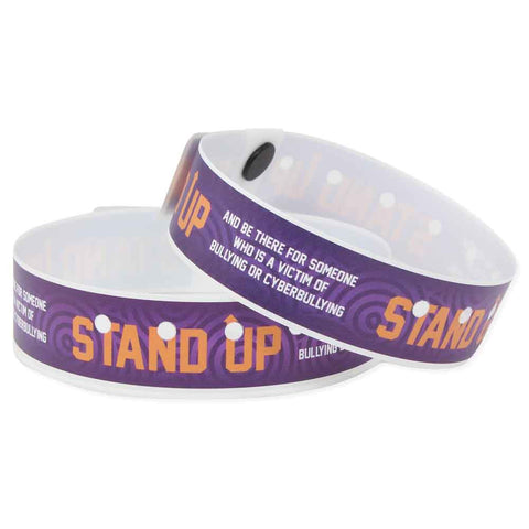 "SuperBand® Plastic 3/4"" Stand Up Wristbands 4066 - Grape - 500/Box - Wristbands.com, The No.1 Wristband Store in the World"