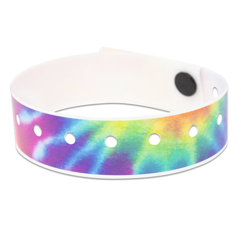 "SuperBand® Expressions Plastic Wristbands 3/4"" Tie Dye Design 4080 (500/Box) - Wristbands.com"