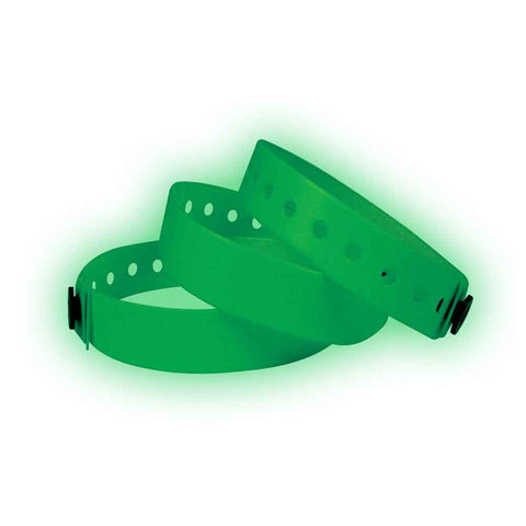"Vinyl 1/2"" Wristbands 430G - Glow in Dark - 500/Box - Wristbands.com, The No.1 Wristband Store in the World"