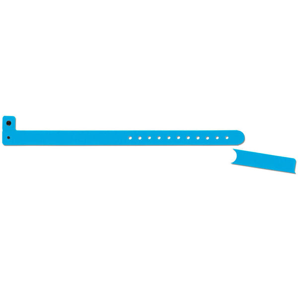 "Vinyl 1/2"" Pull Off Tab Wristbands 430PT - Blue - 500/Box"