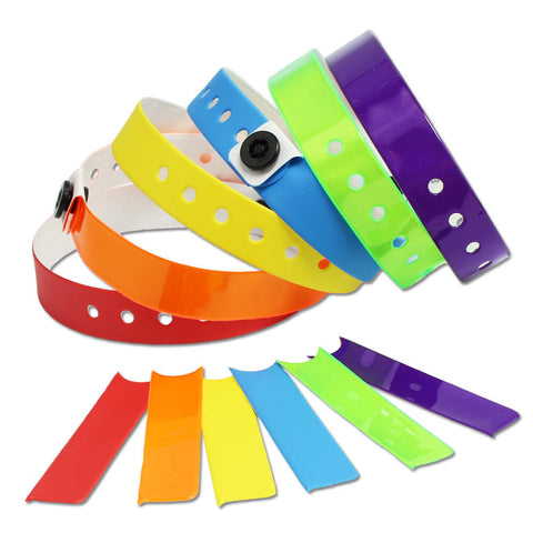 "Vinyl 1/2"" Pull Off Tab Wristbands 430PT - 500/Box"