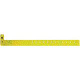 "Liquid Glitter® Holographic Plastic 3/4"" Wristbands 4480 -  Yellow - 500/box"