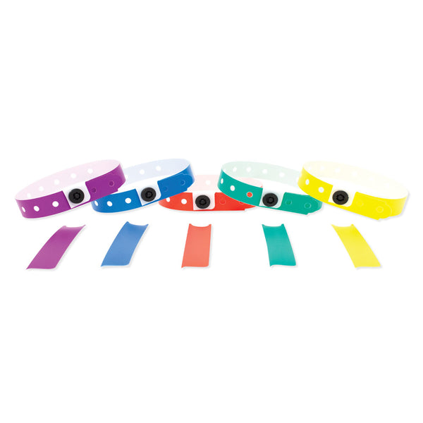 Plastic Wristbands Variety Pack Primary Colors
