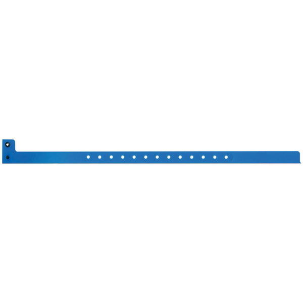 "Superband® Narrow Plastic 1/2"" Wristbands 460P Snap Closure - 500/ Box-Blue"