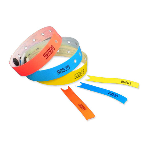 "SecurMatch® Plastic Wristbands 1/2"" 468P (500/Box) - Wristbands.com"