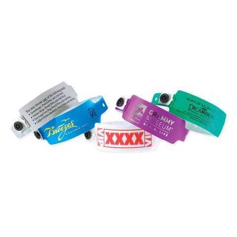 "SuperBand® Custom Plastic Wristbands 1"" Imprinted 470P (500/Box) - Wristbands.com"