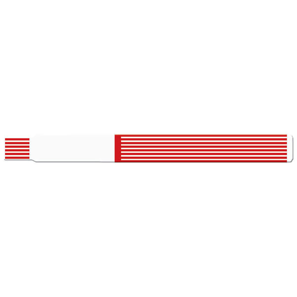 "ScanBand® S Direct Thermal Wristbands 3/4"" Striped Design Wristbands 7122SL (500/Box) - Wristbands.com"