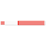 "ScanBand® S Direct Thermal 3/4"" Striped Design Wristbands 7122SL - Red - 500/Box"