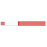 "ScanBand® S Direct Thermal 3/4"" Striped Design Wristbands 7122SL - Cranberry - 500/Box"