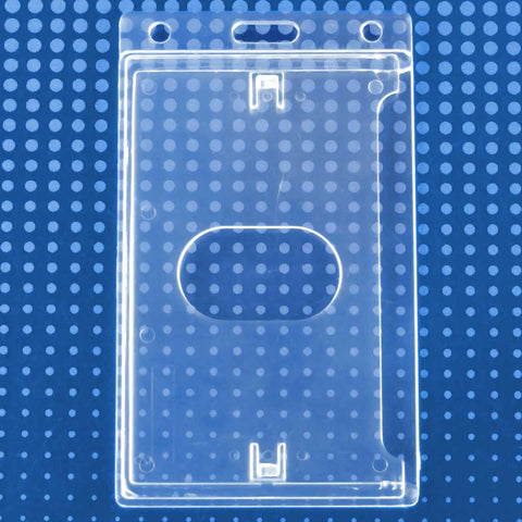 "Economy Crystal Clear Vertical Side-Load Badge Holder, 2.13"" x 3.38"" (50/Box)"