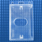 "Economy Frosted Vertical Side-Load Badge Holder, 2.13"" x 3.38"" (50/Box)"