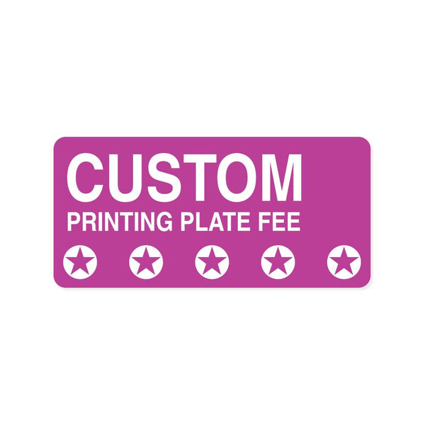 Custom Printing Plate Fee - Wristbands.com