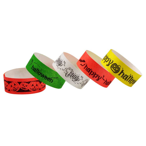 "Halloween Tyvek® 1"" Wristbands (10/Sheet) - Wristbands.com"
