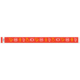 "Tytan Band® Expressions Tyvek Wristbands 3/4"" Food Design NTX100 - Red (500/Pack) - Wristbands.com"