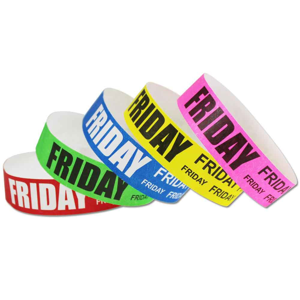 Red Aloha TYVEK Wristbands 500 in a pack