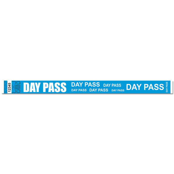 "Tytan® Band Expressions Tyvek 3/4"" Day Pass Design Wristbands NTX114 - Blue - 500/Pack"