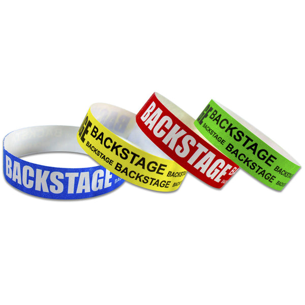 "Tytan® Band Expressions Tyvek Wristbands 3/4"" Backstage Design NTX123 (500/Pack) - Wristbands.com"