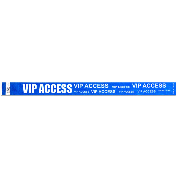 "Tytan® Band Expressions Tyvek Wristbands 3/4"" VIP Access Design NTX124 (500/Pack) - Wristbands.com"