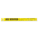 Age Verification Wristbands - Yellow