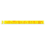 Yellow Carnival Wristband Flat