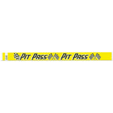 "Tytan Band® Expressions Tyvek Wristbands 3/4"" Pit Pass Design NTX16 (500/Pack) - Wristbands.com"
