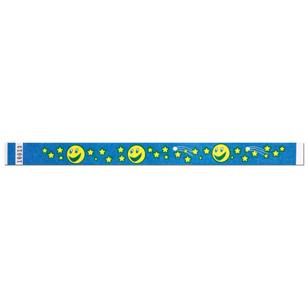 "Tytan Band® Expressions Tyvek Wristbands 3/4"" Moon & Stars Design NTX52 - Blue (500/Pack) Clearance - Wristbands.com"