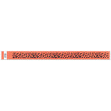 "Tytan Band® Expressions Tyvek Wristbands 3/4"" Leopard Design NTX58 - Day Glow Orange (500/Pack) - Wristbands.com"