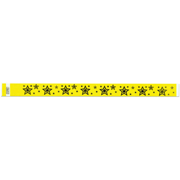 "Tytan Band® Expressions Tyvek Wristbands 3/4"" Star Explosion Design NTX91 (500/Pack) - Wristbands.com"