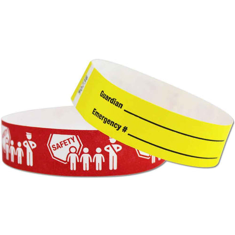 "Tytan Band® Expressions Tyvek 3/4"" Child Safety Design Wristbands NTX92 - 500/Pack - Wristbands.com, The No.1 Wristband Store in the World"