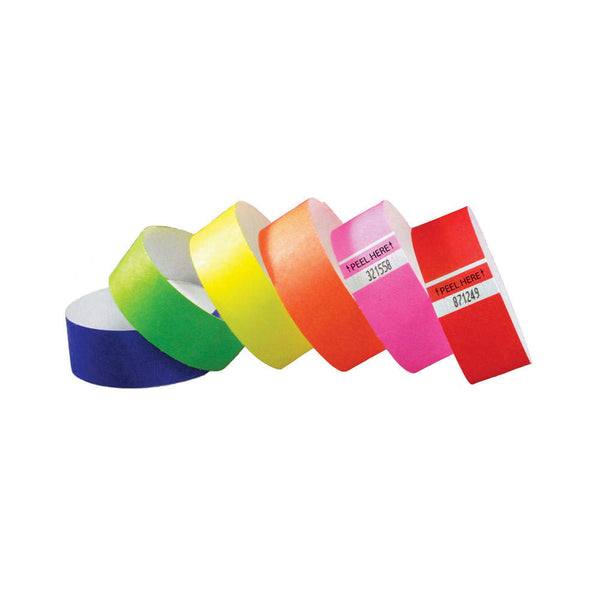 "Tytan Tabless® Tyvek Wristbands 1"" TTAB (1000/Box) - Wristbands.com"