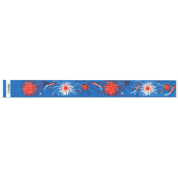 "Tytan Band® Expressions Tyvek Wristbands 1"" Fireworks Design TX13 (500/Pack) - Wristbands.com"