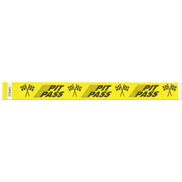 "Tytan Band® Expressions Tyvek 1"" Pit Pass Design Wristbands TX15 - 500/Pack - Wristbands.com, The No.1 Wristband Store in the World"