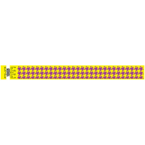 "Tytan Band® Expressions Tyvek Wristbands 1"" Houndstooth Design TX27 (500/Pack) Clearance - Wristbands.com"
