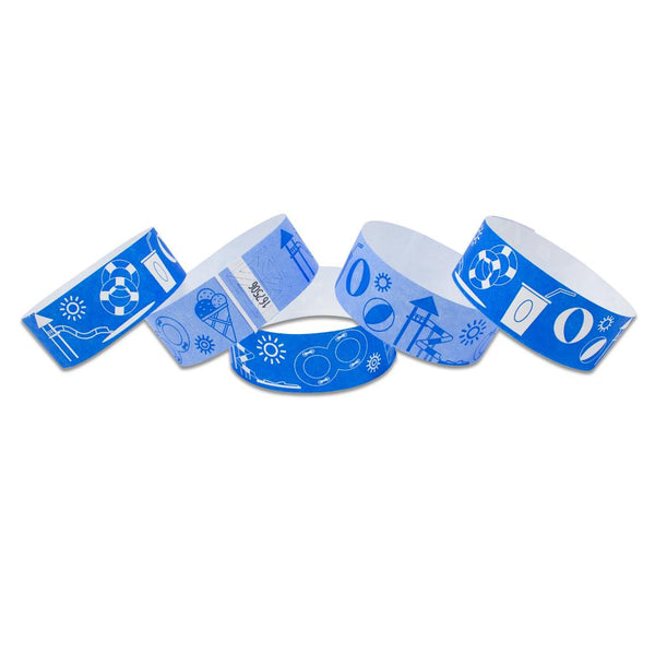 "Tytan Band® Expressions Tyvek Wristbands 1"" Waterpark Design TX40 (500/Pack)"