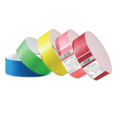 Holographic Tyvek Wristbands TYSH