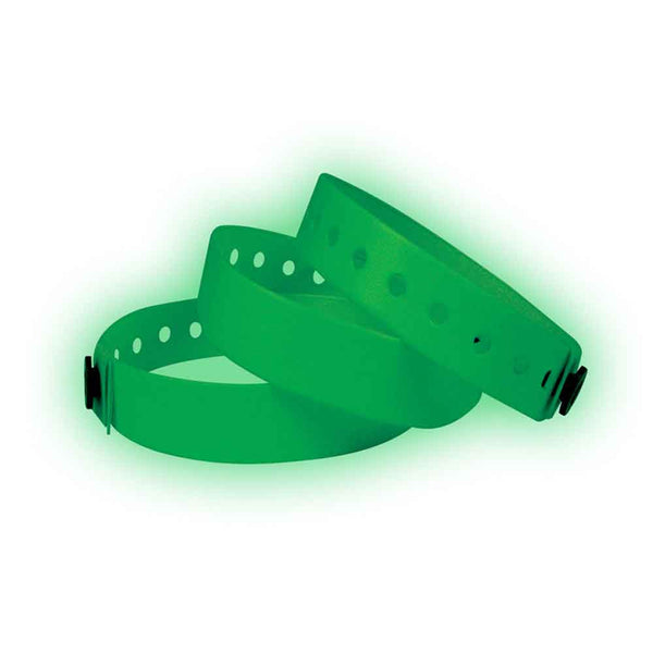 "Vinyl 3/4"" Wristbands VSG - Glow In Dark - 500/Box - Wristbands.com, The No.1 Wristband Store in the World"