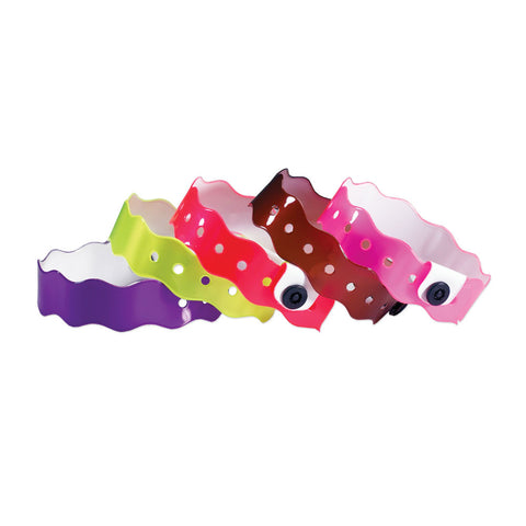 "Vinyl Wave 3/4"" Wristbands VSW Snap Closure - 500/Box - Wristbands.com, The No.1 Wristband Store in the World"