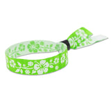 Woven Aloha Wristbands Floral Design Kelly Green